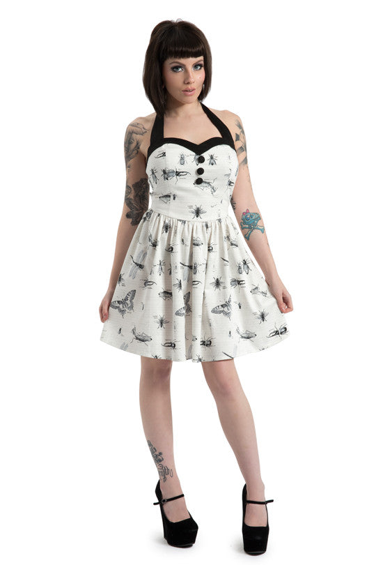 Jawbreaker Clothing - Butterfly and Bug Print Halter Dress - Egg n Chips London