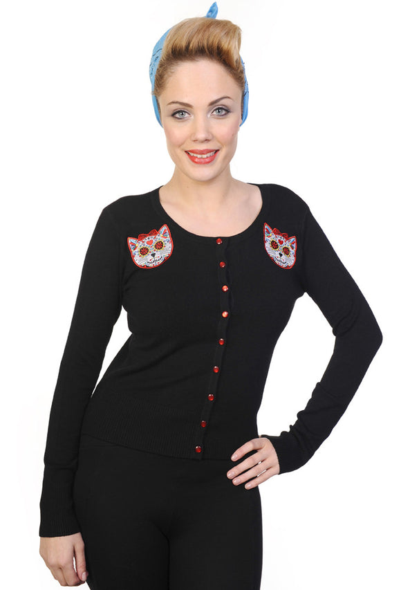 Banned Clothing - Black Sugar Kitty Cardigan - Egg n Chips London