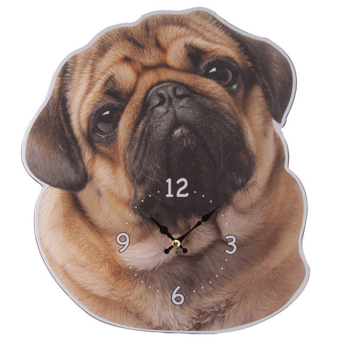 Egg n Chips London - Decorative Pug Shaped Wall Clock