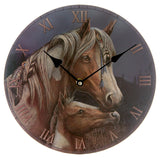 Egg n Chips London - Decorative Horse and Foal Round Wall Clock - Egg n Chips London