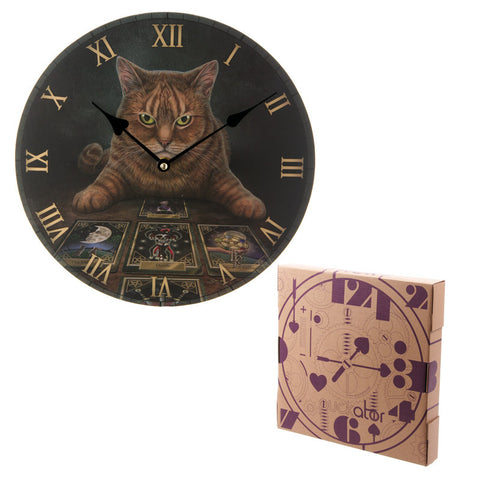 Egg n Chips London - Decorative Fantasy Cat and Tarot Cards Wall Clock