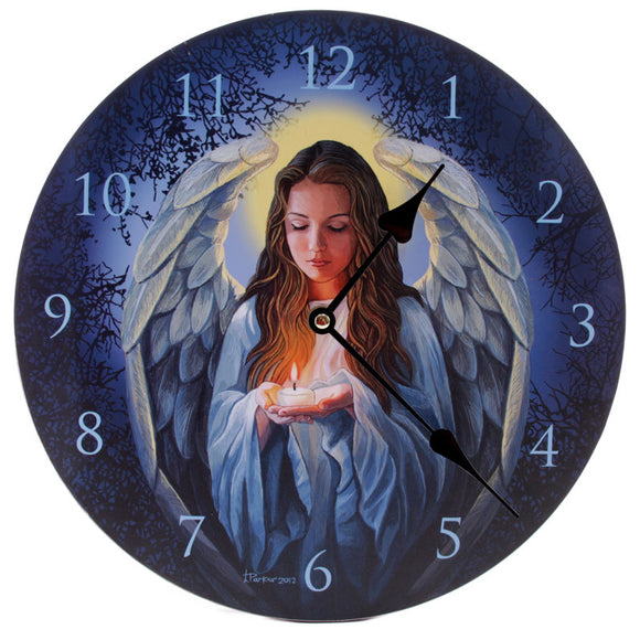 Egg n Chips London - Decorative Fantasy Guardian Angel Wall Clock - Egg n Chips London