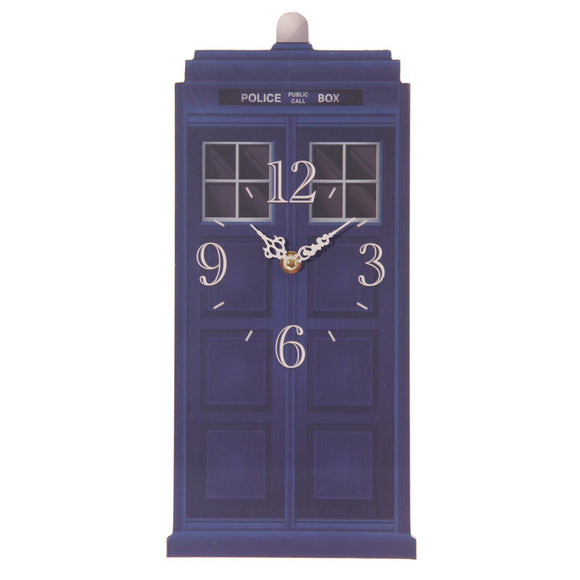 Egg n Chips London - Fun Novelty Dr Who Police Box Shaped Wall Clock - Egg n Chips London
