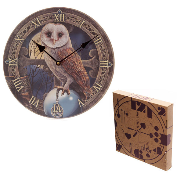 Egg n Chips London - Fantasy Magical Barn Owl Design Decorative Wall Clock - Egg n Chips London