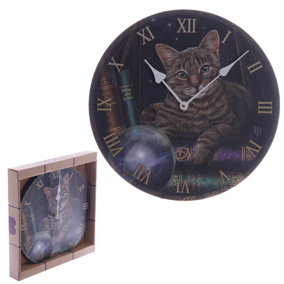 Egg n Chips London - Magical Fortune Teller Cat Lisa Parker Design Wall Clock - Egg n Chips London