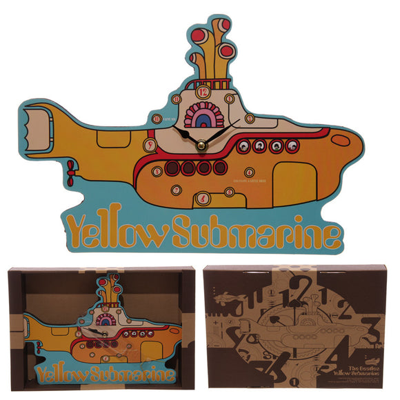 Egg n Chips London - Funky Beatles Yellow Submarine Wall Clock - Egg n Chips London