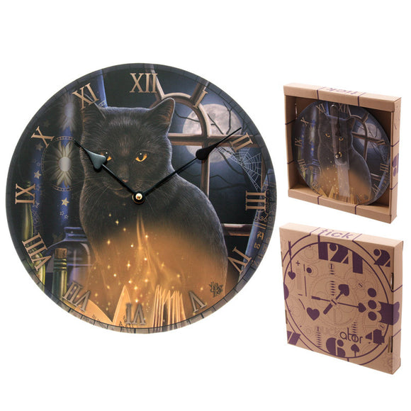 Egg n Chips London - Bewitched Fantasy Cat Design Decorative Wall Clock - Egg n Chips London