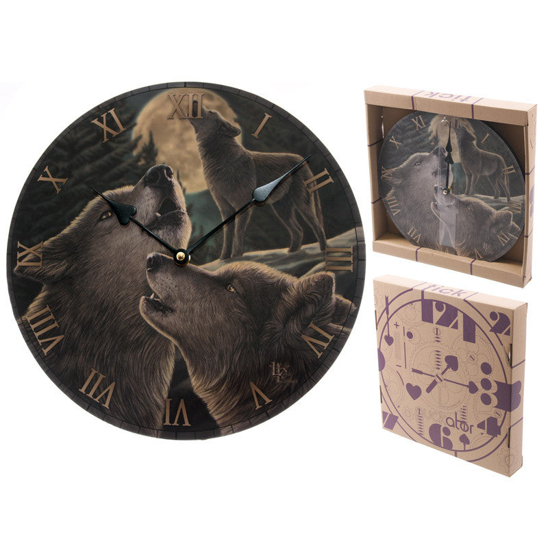 Egg n Chips London - Fantasy Wolf Song Decorative Wall Clock - Egg n Chips London