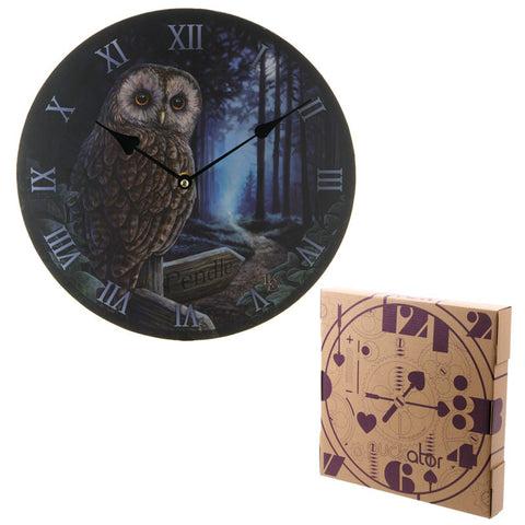 Egg n Chips London - Decorative Owl and Pendle Sign Wall Clock