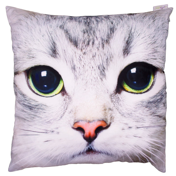 Egg n Chips London - Decorative Cat Print Cushion - Egg n Chips London