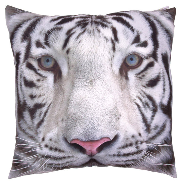 Egg n Chips London - Decorative Snow Tiger Print Cushion - Egg n Chips London