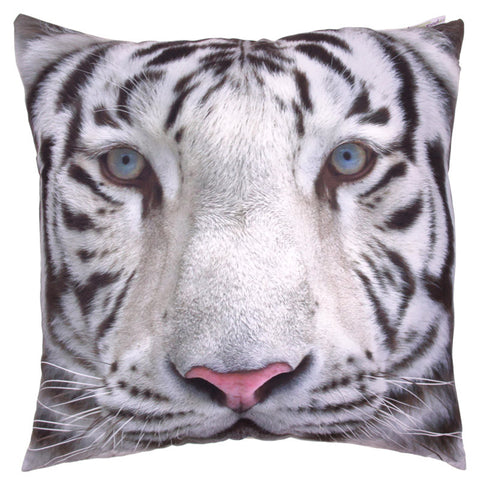 Egg n Chips London - Decorative Snow Tiger Print Cushion