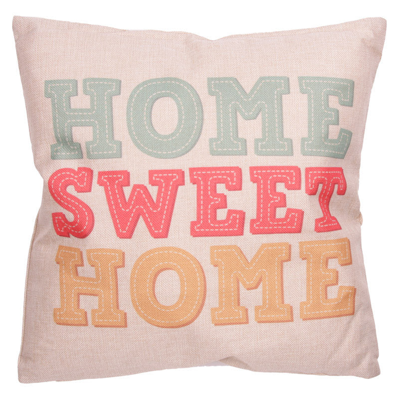 Egg n Chips London - Cushion with Insert - HOME SWEET HOME
