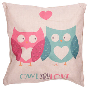 Egg n Chips London - Cushion with Insert - OWL YOU NEED IS LOVE - Egg n Chips London