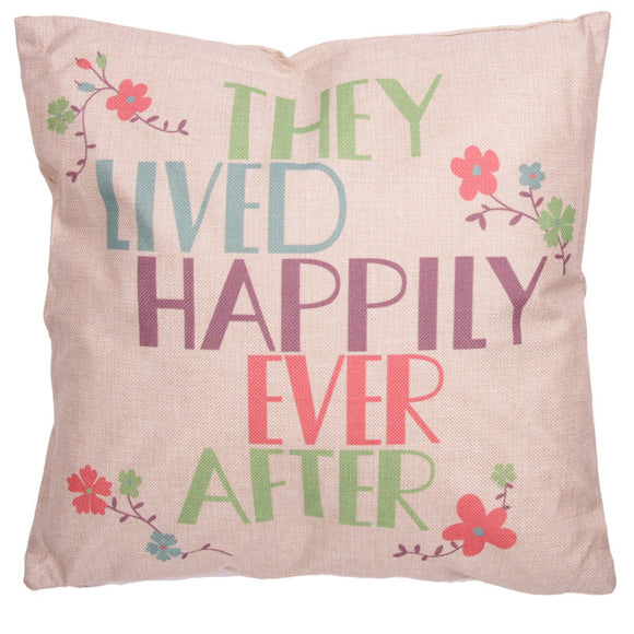 Egg n Chips London - Cushion with Insert - THEY LIVED HAPPILY EVER AFTER - Egg n Chips London