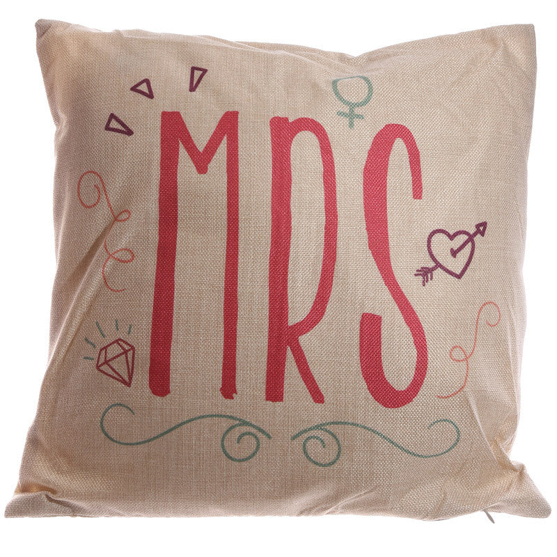 Egg n Chips London - Cushion with Insert - MRS 43 x 43cm