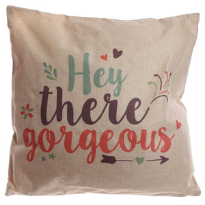 Egg n Chips London - Cushion with Insert - Hey There Gorgeous 43 x 43cm - Egg n Chips London