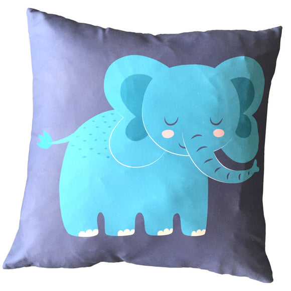 Egg n Chips London - Decorative Fun Animal Cushion - Elephant - Egg n Chips London
