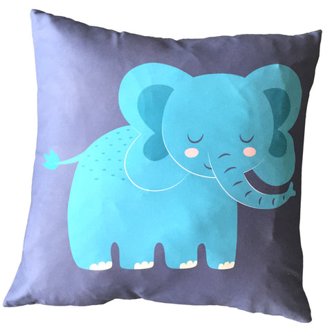 Egg n Chips London - Decorative Fun Animal Cushion - Elephant