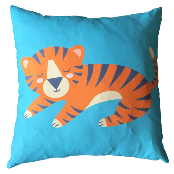 Egg n Chips London - Decorative Fun Animal Cushion - Tiger - Egg n Chips London