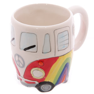 Egg n Chips London - Funky Novelty Rainbow Camper Van Design Ceramic Mug - Egg n Chips London
