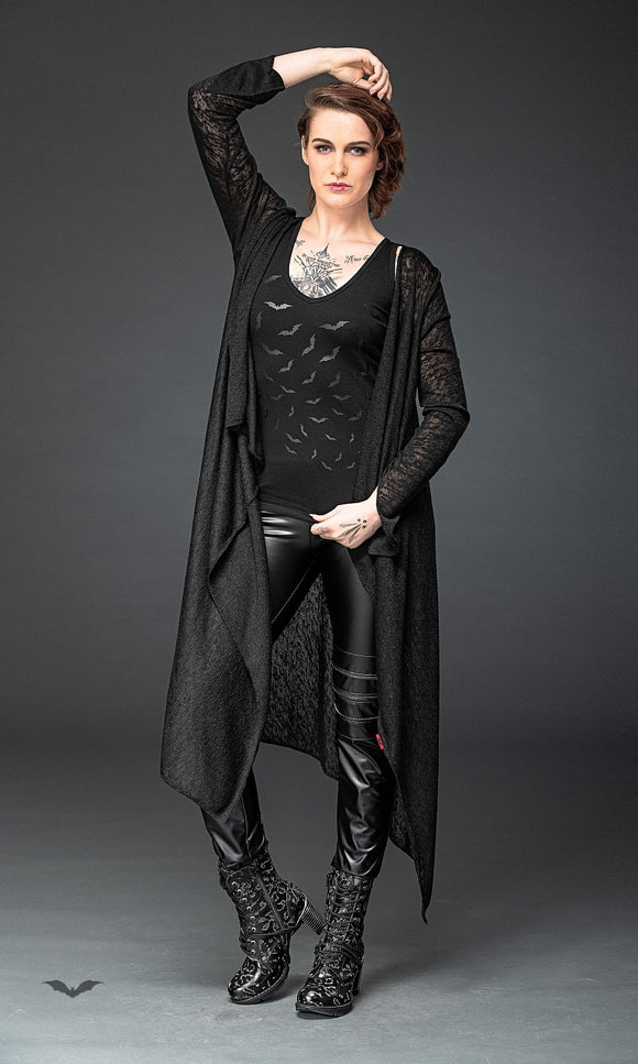 Queen of Darkness - Cardigan with tapered sleeves