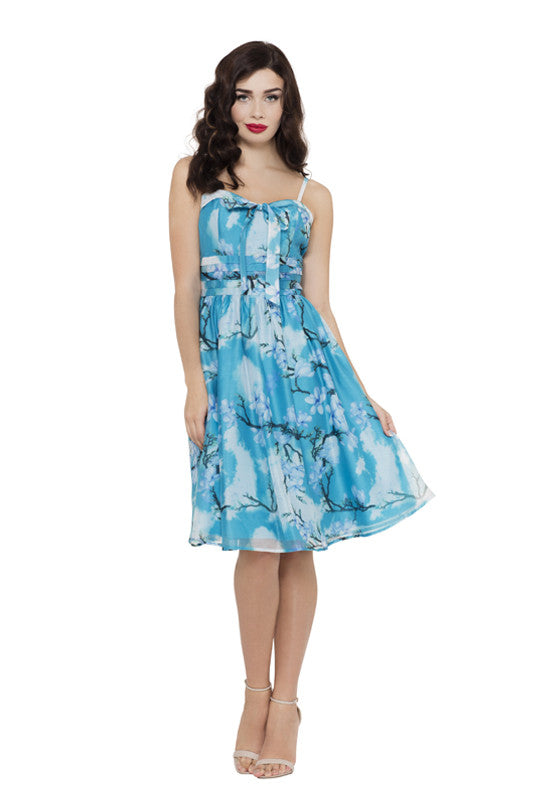Voodoo Vixen Clothing - Clara Dreamy Spring Day Dress - Egg n Chips London
