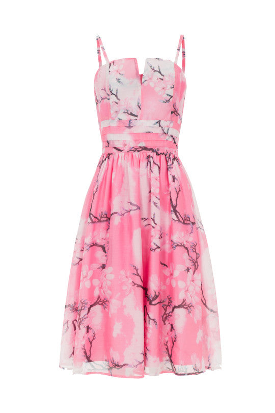 Voodoo Vixen Clothing - Clara Pink Dreamy Spring Day Dress - Egg n Chips London