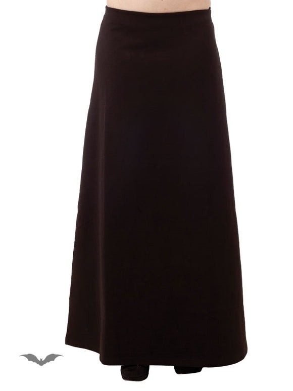 Queen of Darkness - Classic Long Black Skirt