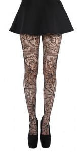 Pamela Mann - Cobweb Pattern Net Tights Black