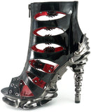 Hades Shoes - Crimson Stiletto Platforms - Egg n Chips London