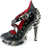 Hades Shoes - Crow Stiletto Platforms - Egg n Chips London