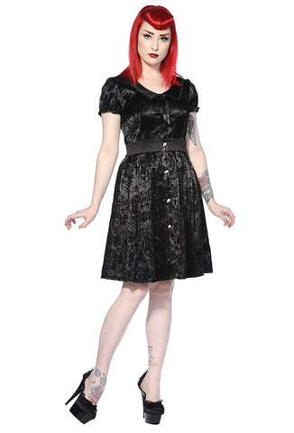 Banned Clothing - Black Ivy Cross Gothic Dress