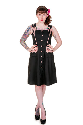Banned Clothing - Black Pink Retro Dress