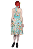 Banned Clothing - Tropical Blue Floral Dress - Egg n Chips London