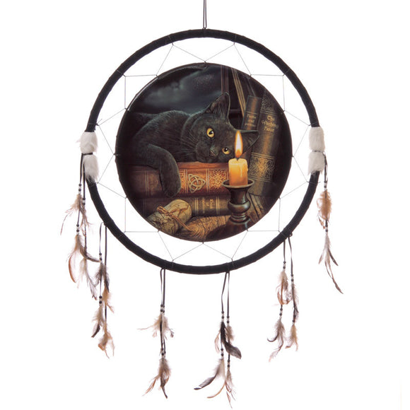 Egg n Chips London - Decorative Magical Witching Hour Cat 34cm Dreamcatcher - Egg n Chips London