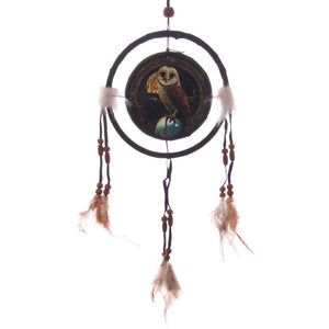 Egg n Chips London - Decorative Magical Barn Owl 16cm Dreamcatcher - Egg n Chips London