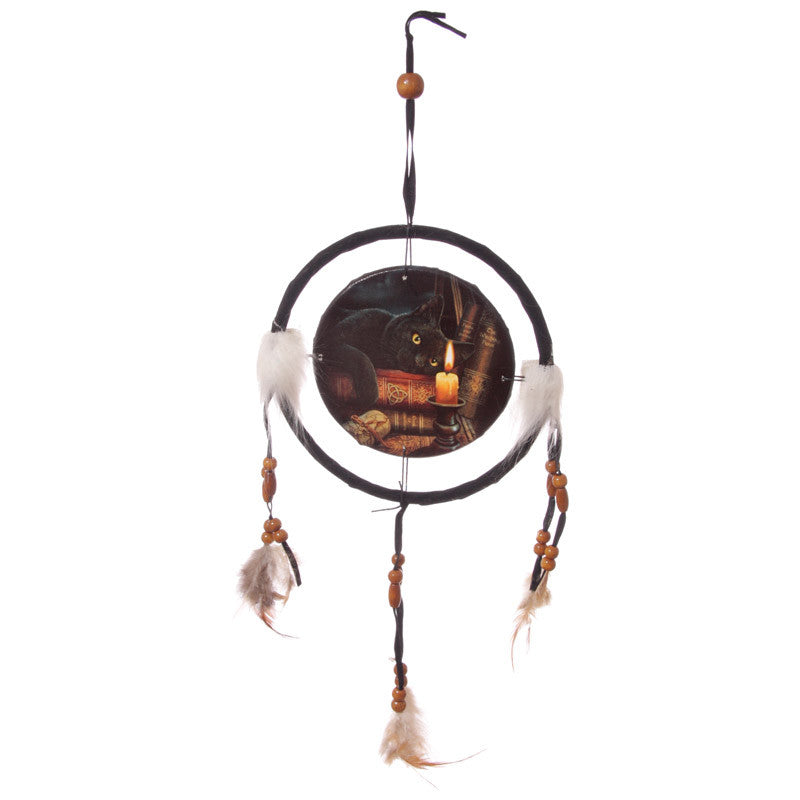 Egg n Chips London - Decorative Magical Witching Hour Cat 16cm Dreamcatcher - Egg n Chips London