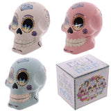 Egg n Chips London - Novelty Candy Skull Day of the Dead Ceramic Money Box - Egg n Chips London