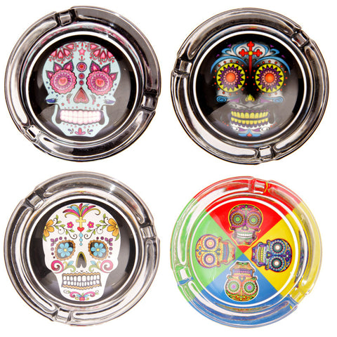 Egg n Chips London - Fun Multicoloured Day of the Dead Candy Skull Ashtray