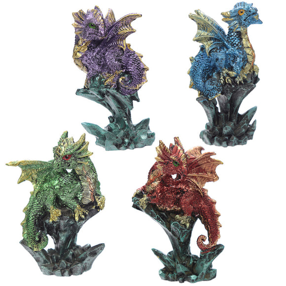Rock Crystal Enchanted Nightmare Dragon Figurine DRG427