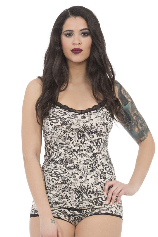 Jawbreaker Clothing - Dark Tattoo Cami - Egg n Chips London