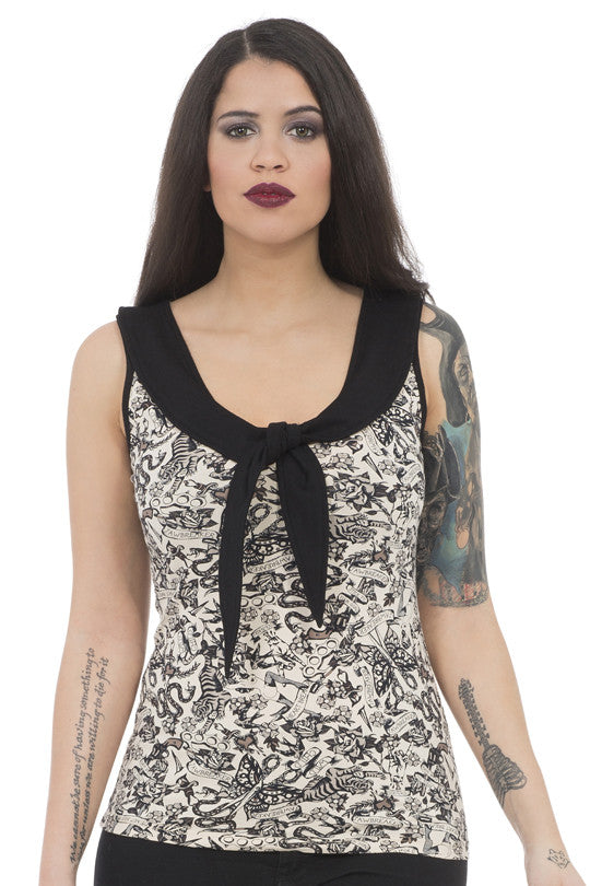 Jawbreaker Clothing - Dark Tattoo Sailor Top - Egg n Chips London