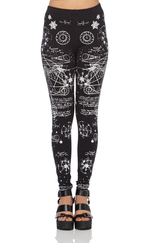 Jawbreaker Clothing - Darwin Print Fitted Leggings - Egg n Chips London