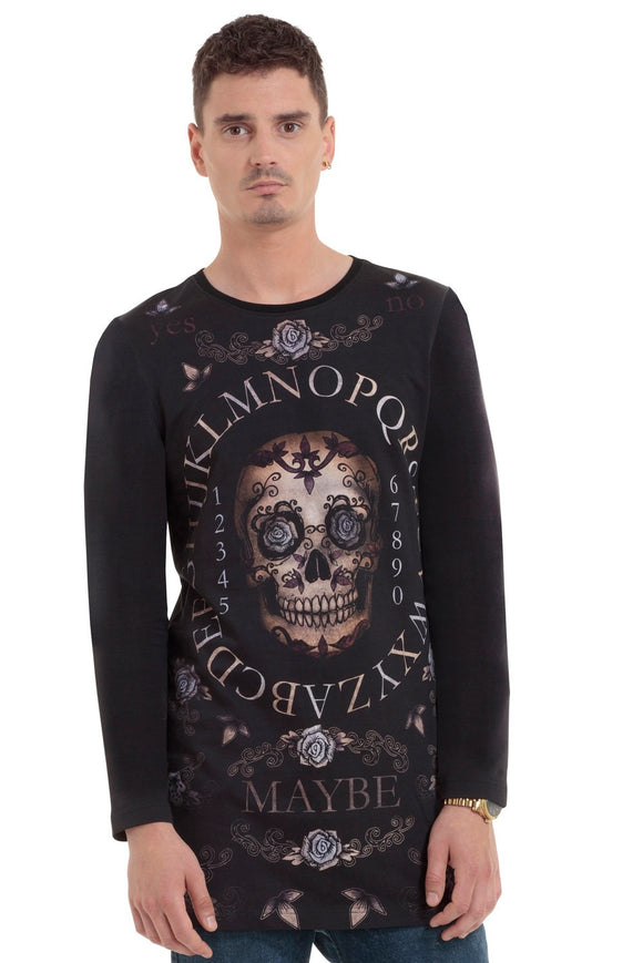 Jawbreaker Clothing - Day Of The Dead Ouijia Long Sleeve Shirt - Egg n Chips London