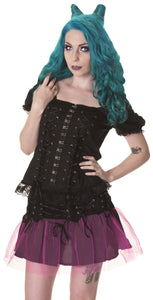 Dead Threads - Black Laced and Drawstring Top