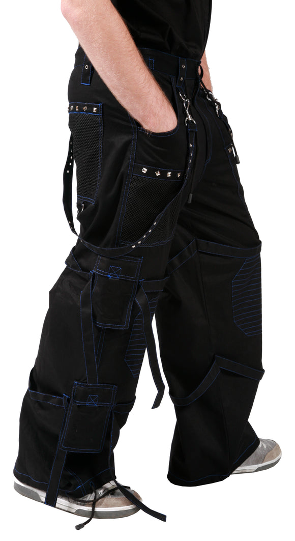 Dead Threads - Black Men's Trouser with Blue Stitching