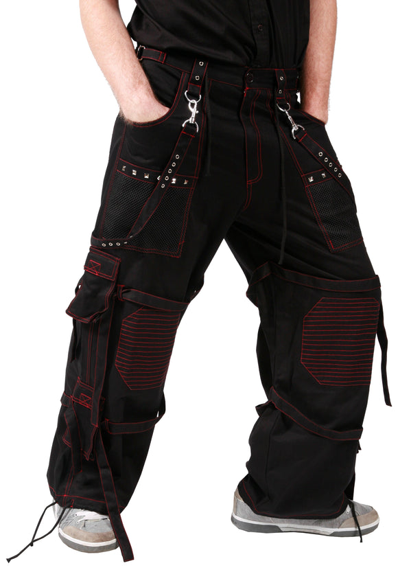 Dead Threads - Black Men's Trouser with Red Stitching