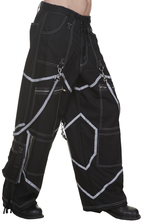 Dead Threads - Six Pockets Black Trouser with Belt