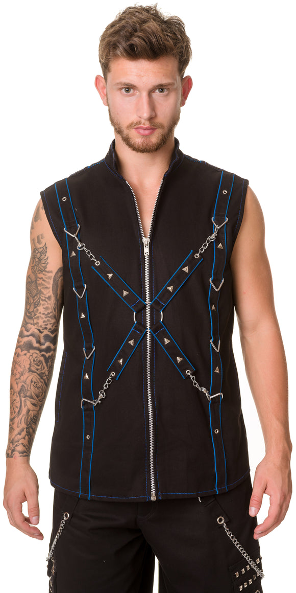 Dead Threads - Black and Blue Men's Waistcoat